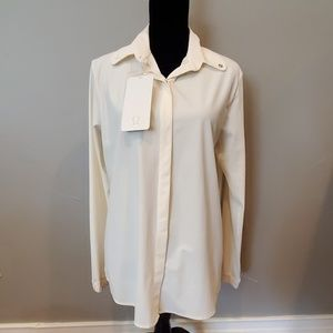 Lululemon Day Trip Blouse sz 8 - cream